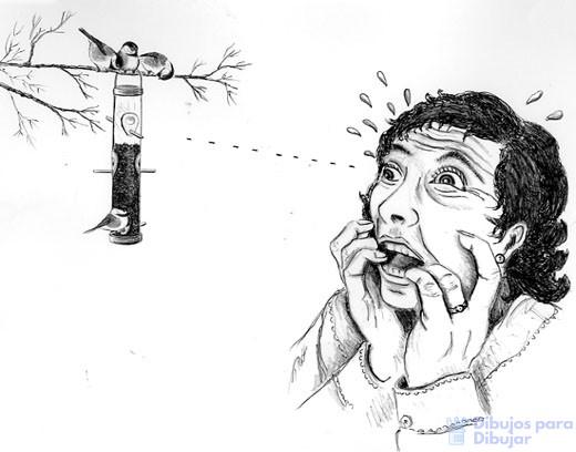 dibujos de terror a lapiz faciles