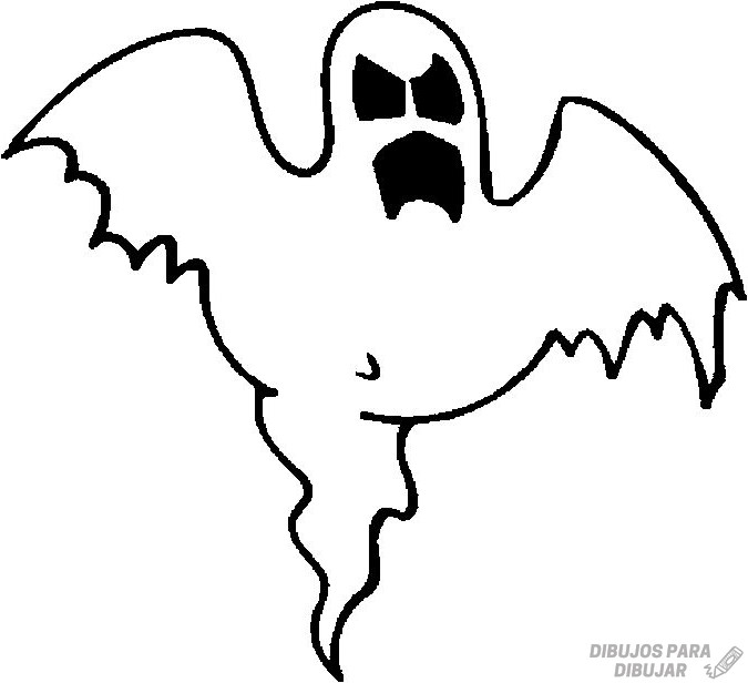 imagenes de fantasmas para colorear