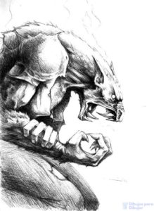 imagenes de hombres lobos en 3d