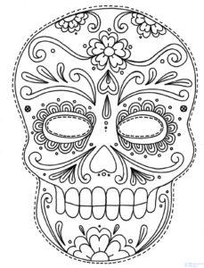 mascaras blancas para pintar
