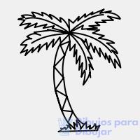 palmeras en caricatura