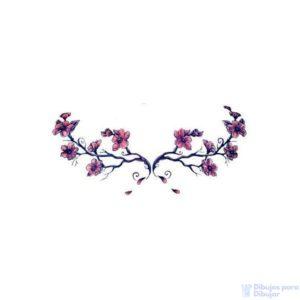 pinturas de flores de cerezo