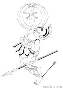 dibujos de aquiles nazoa troya